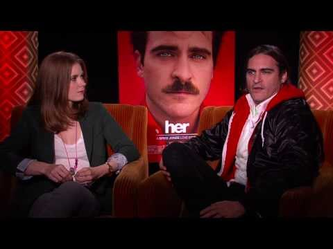 Her: Amy Adam & Joaquin Phoenix Official Interview Part 2 of 2 - Spike Jonze Movie