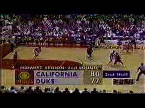 Cal stuns Duke, 82-77, in 2nd round of NCAA tournament in 1993. Jason Kidd as a freshman led the Golden Bears to beat Bobby Hurley and the Duke Blue Devils. ...