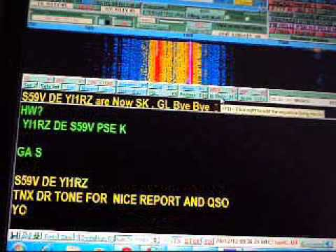 My RTTY QSO with S59V on 15m band in 28 12 2012