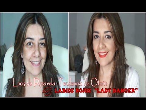 Maquillaje de Pasarela - Tendendia Otoño | Labios Rojos Lady Danger