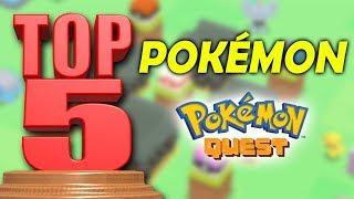 TOP 5 POKÉMON en Pokémon Quest | Y sus mejores ataques