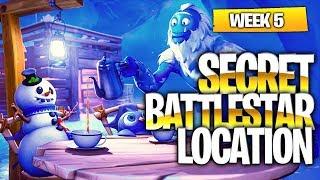 "Fortnite Battle Royale Season 7 Week 5 Secret Battlestar Location (""Snowfall"" Challenges)"