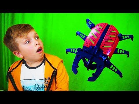 Матвей РАЗЫГРАЛ папу!!! КУПИЛ РОБОТ-ЖУК летающий!!! Видео для детей For Kids Children Матвей Котофей