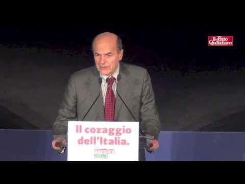 La festa di Pierluigi Bersani al Teatro Capranica dopo la vittoria alle primarie (02/1272012)