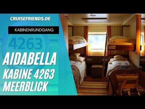AIDAbella Kabine 4263 Aussenkabine Meerblick Kabinenrundgang Cabin Tour AIDA Bella Rundgang