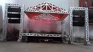 Miniatur panggung rigging