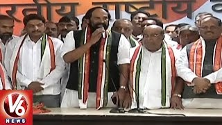 Nagam Janardhan Reddy, Aadi Srinivas And Gadar's Son Speech After Joining Congress