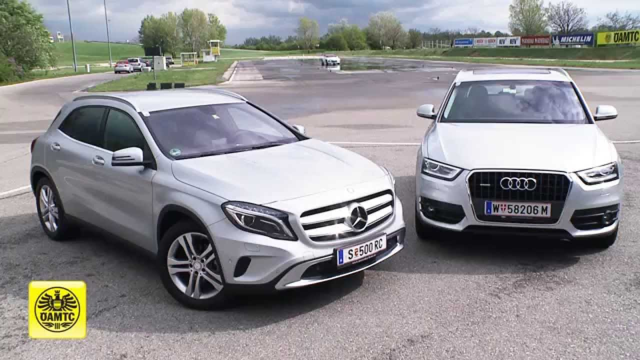 neue autos im test mercedes gla vs audi q3 youtube. Black Bedroom Furniture Sets. Home Design Ideas