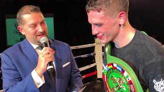 Thomas LaManna Post fight interview after Amoako win