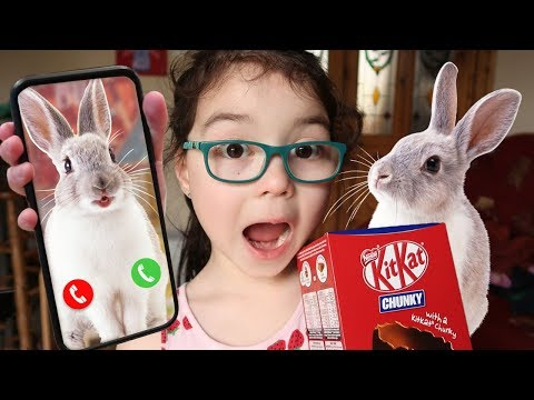 I CALLED the EASTER BUNNY in REAL LIFE and HE CAME TO MY HOUSE for an EASTER EGG HUNT (Skit)