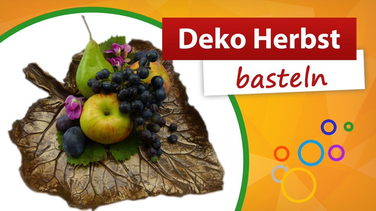 Deko Herbst  Do it yourself  trendmarkt24 Bastelshop