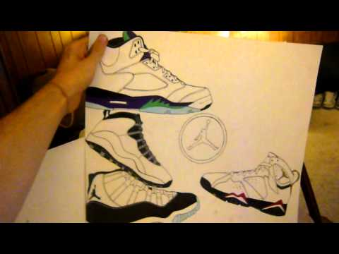 Jordan 13 Shoes Drawing Air Jordan Shoe Art