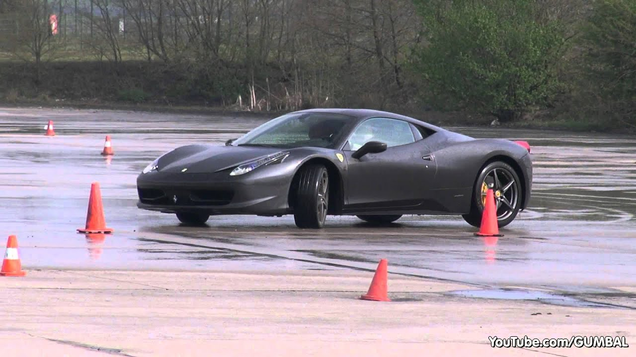 Trying to Drift in a Ferrari