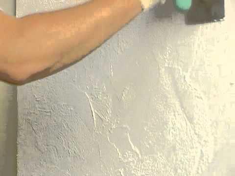 Видео как наносить штукатурку