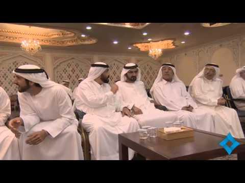 محمد بن راشد يقدم واجب العزاء في وفاة عبداللطيف بن حبيب