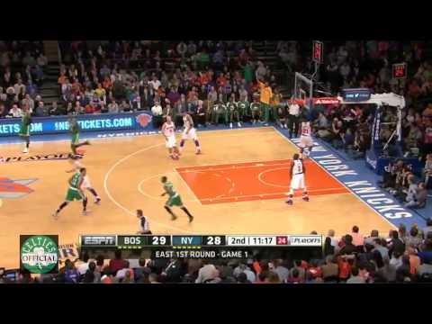Jeff Green 26 points vs New York Knicks - Game 1 Playoffs - Highlights 4/20/2013