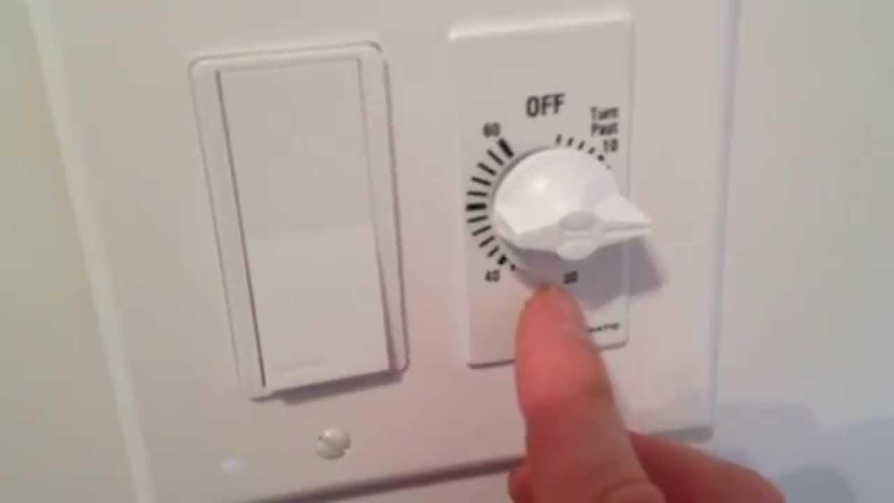 Bathroom Exhaust Fan Switch Review And Demonstraion Video