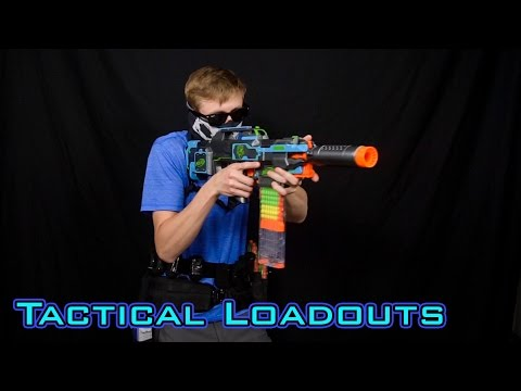 TACTICAL NERF LOADOUTS   Frank's HvZ Gear!