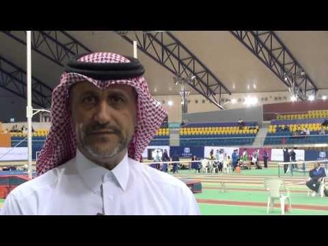 عبد الحكيم العمري - رئيس اللجنة الفنية - كأس اتحاد العاب القوى للصالات - رجال 6-8- يناير 2014