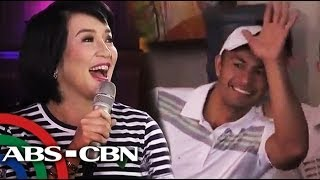 Derek Ramsay visits Kris TV set