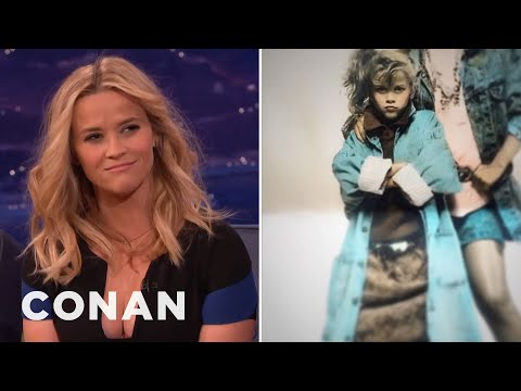 Reese Witherspoon's Intense Child Modeling Stare  - CONAN on TBS