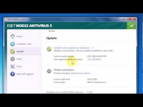 LATEST UPDATE - [HOW TO] ESET NOD32 Username & Password 6.0.316.0 ( APRIL 2013 )