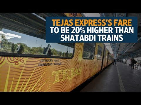 Tejas Express's fare to be 20% higher than Shatabdi trains