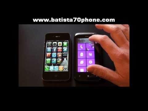Lg optimus 7 vs iphone 4 by batista70phone wmv