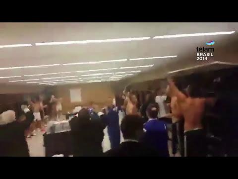 El Festejo argentino en el vestuario