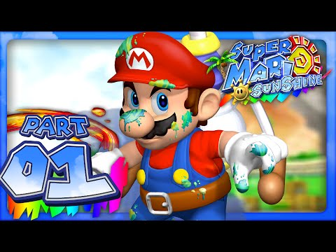 Super Mario Sunshine - Part 1- Isle Delfino (Dolphin HD)