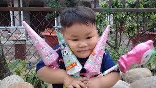 Đồ chơi trẻ em bé pin cây dù thần kỳ  ❤ PinPin TV ❤ Baby toys um miracle
