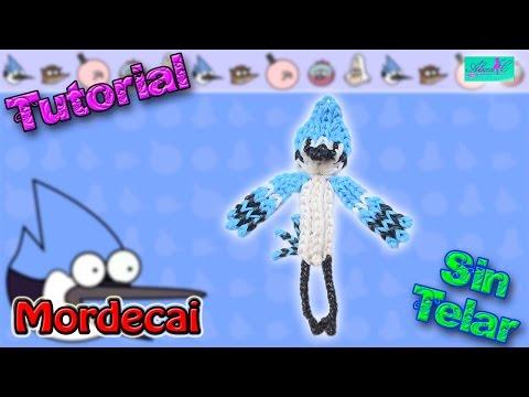 ♥ Tutorial: Mordecai de gomitas (sin telar) ♥