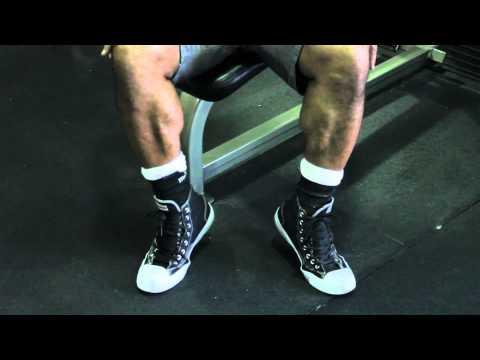 Seated Calf Raise Without Weights : Weight Training Techniques Image 1