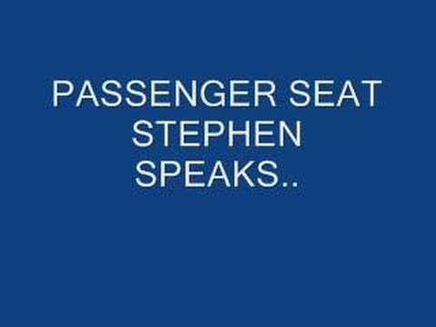 Passenger Seat by Stephen Speaks With Lyrics