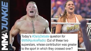 Daily Debate: Did Brock Lesnar or Ronda Rousey contribute more when they crossed over?