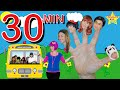 Daddy Five Finger Family & Wheels on the Bus Song Collection -  Debbie Doo