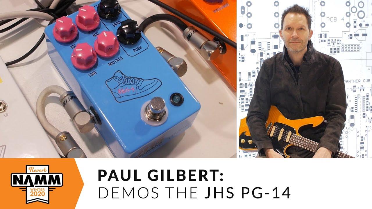 Paul Gilbert - シグネチャー・ペダル「JHS Pedals PG-14」紹介&デモ演奏映像を公開 #NAMM2020 thm Music info Clip