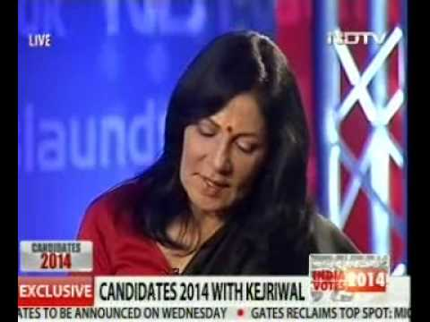 Madhu Trehan's Googly To Arvind Kejriwal On Ndtv video