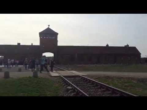 Entrance of Auschwitz concentration camp, Poland