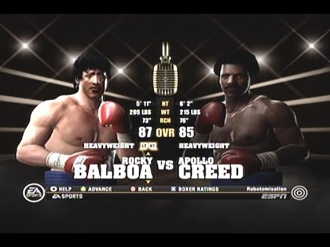 Fight Night Round 4 - Rocky Balboa vs  Apollo Creed - Xbox 360