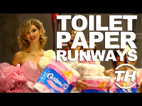Toilet Paper Runways - The White Cashmere Collection 2012 Fashion with Compassion Show