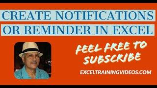 download lagu How To Create Notifications Or Reminders In Excel gratis