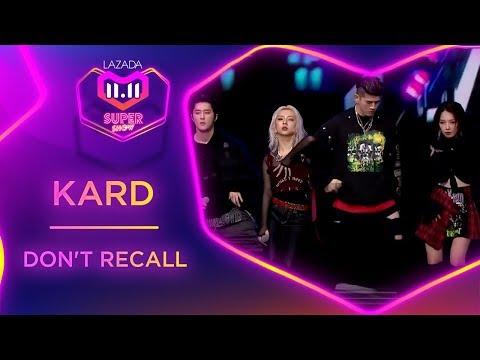 Don't Recall - KARD   #MyLazada1111