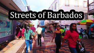 Barbados Streets - Walking around Bridgetown 2017