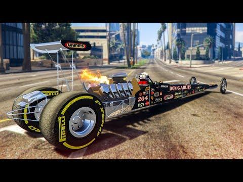 THE FASTEST CAR IN GTA 5! - (GTA 5 Dragster Mod)