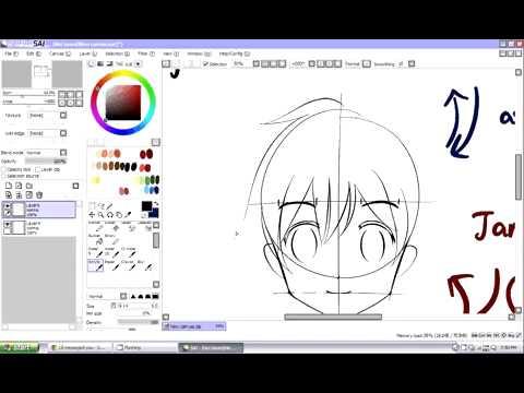 cara membuat wajah anime [tutorial]