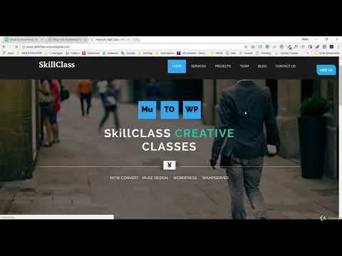 How to Convert any Adobe Muse Theme to WordPress Theme-COMPLETED CLASS