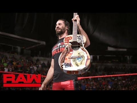 Seth Rollins destroys Elias' prized guitar: Raw, June 11, 2018 thumbnail