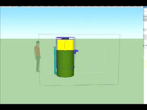 Animation of a simple telescoping biogas digester