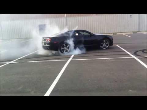 2010 camaro ss burnout smoke show!!!